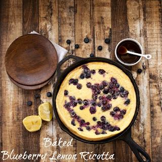 Baked Blueberry Lemon Ricotta Pancake