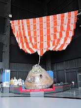 """Photo: Apollo 16 Capsule """"Caspar""""-- with one of its three original parachutes"""