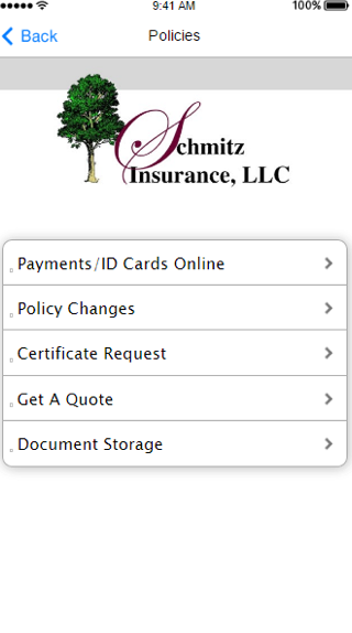 Schmitz Insurance- screenshot