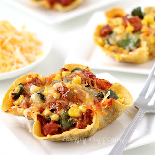 Chicken and Cheese Enchilada Bowls with Poblano Peppers and Corn