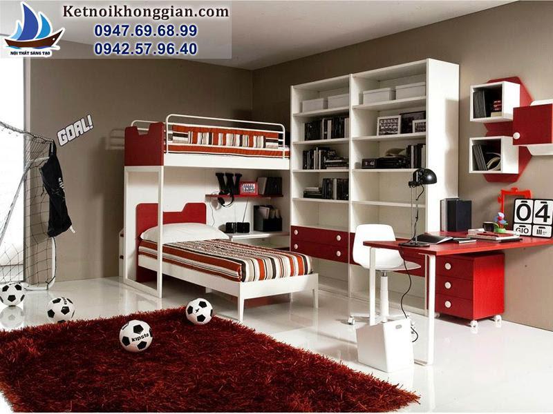 trang trí phòng bé với chiếc giường độc đáo