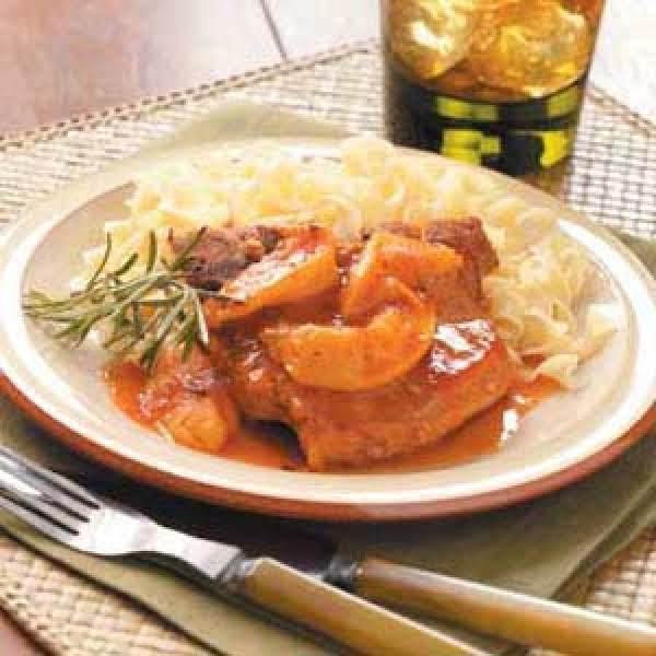 Slow Cooker Peach Pork Chops Recipe