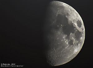 Photo: Zunehmender Mond (Luna)  Mitgefühl und Liebe verbindet alle Lebewesen im Universum.