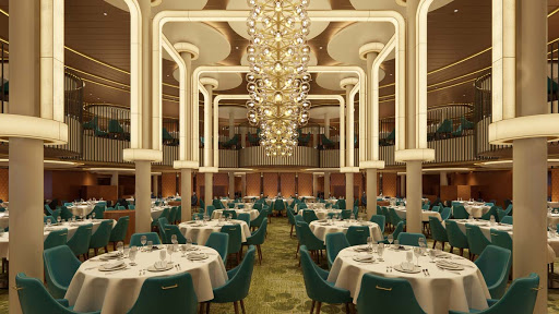 The Palm restaurant, one of the main dining venues on Carnival's Mardi Gras (rendering).