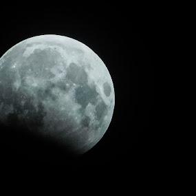 Lunar eclipse by Swati Mukherjee - Landscapes Starscapes