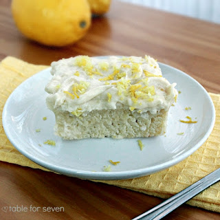 Lemon Snack Cake with the Best Vanilla Frosting Ever.