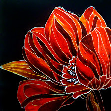 Photo: 101, Нетронина Наталья, Красные Тюльпан(1), Витражные краски, контуры, фольгированный картон (витражные картины), 33х33см,