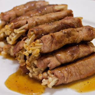 Beef Rolls With Enoki.