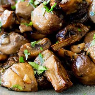 Roasted Mushrooms.