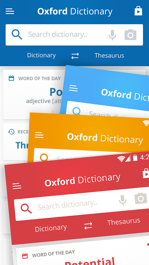 Oxford Dictionary of English & Thesaurus- screenshot