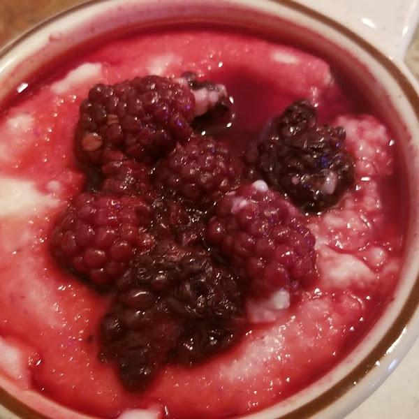 blackberry grits.