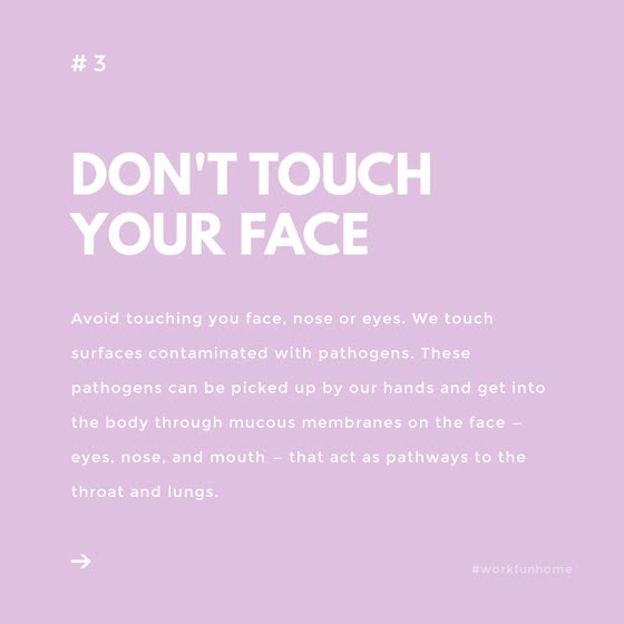 Don't Touch Your Face - Instagram Post Template