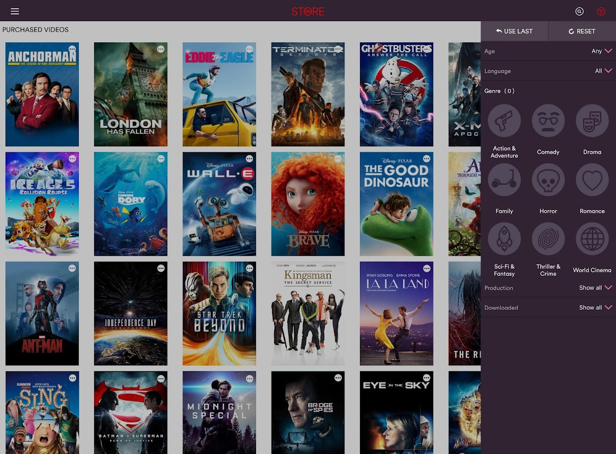 Virgin Media Store: captura de pantalla