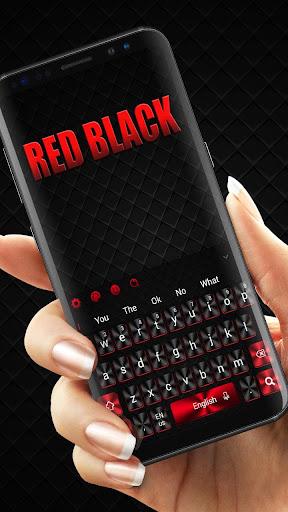 Cool Red Black Keyboard 10001002 screenshots 1