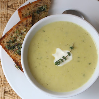 Leek Potato & Parsnip Soup with Thyme