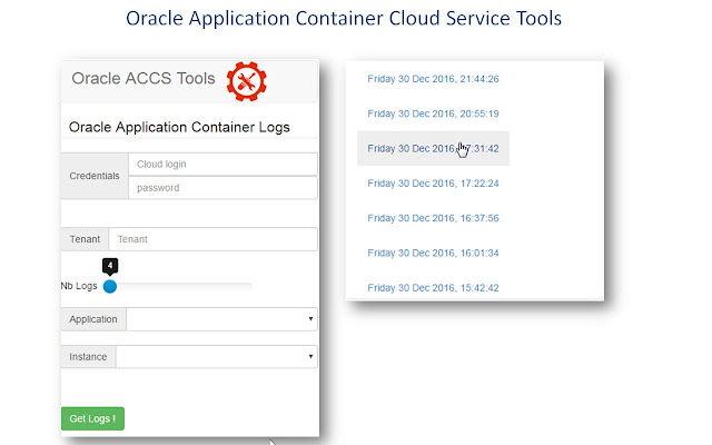 Oracle ACCS Tools