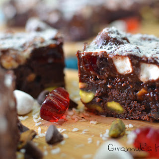 Fully Loaded Rocky Road Brownies.