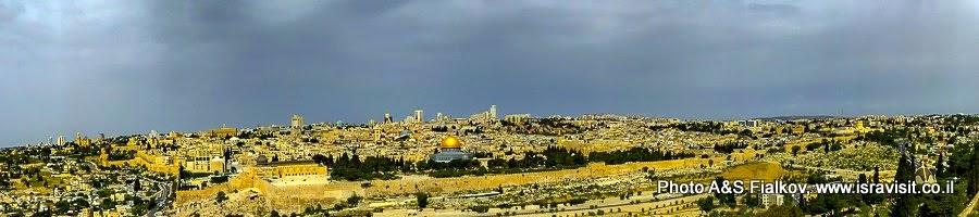 Панорама Иерусалима. На индивидуальной экскурсии по Иерусалиму с частным гидом.