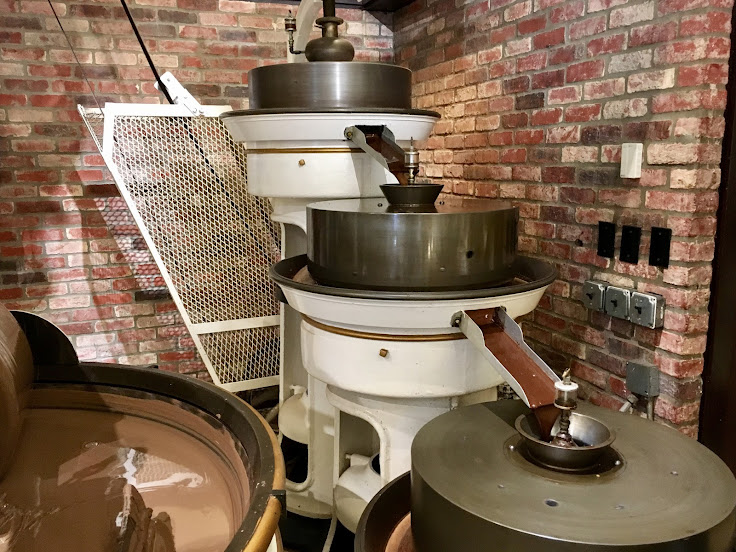 Some of the machinery used to make chocolate.