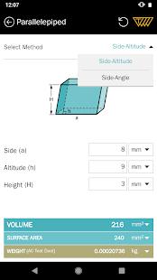 Area Volume Calculator - náhled