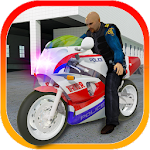 Police Traffic Bike 3D Icon