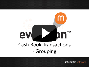 Cash Book Transactions - Grouping