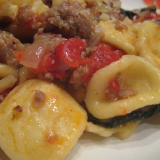 Orecchiette w/ Sausage, Tomato, and Spinach