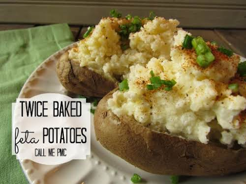 """Twice Baked Feta Potatoes """"These days, I try to make dishes that..."""