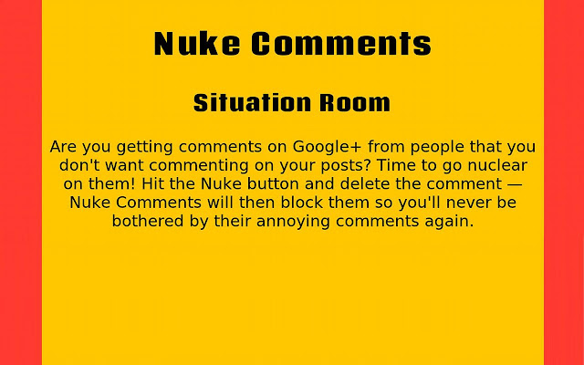 Nuke Comments on Google+™