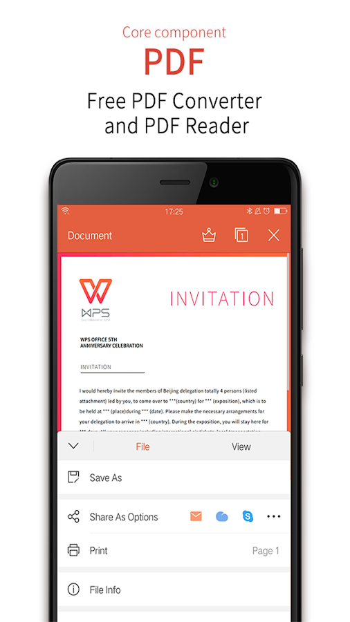 WPS Office + PDF– captură de ecran