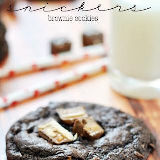 Snickers Brownie Cookies