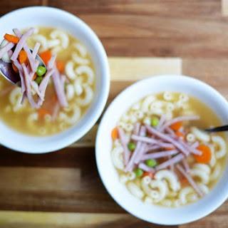 HK Style Macaroni Soup.