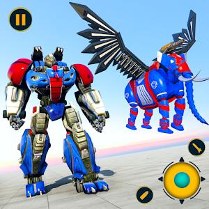 Flying Elephant Robot Transform: Flying Robot War for pc