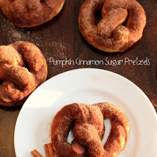 Pumpkin Cinnamon Sugar Soft Pretzels