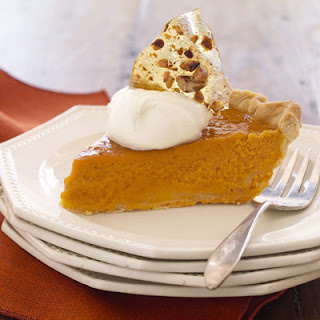 Pumpkin Pie with Pecan Brittle