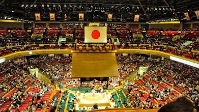 Photo: Inside the Kokugikan.