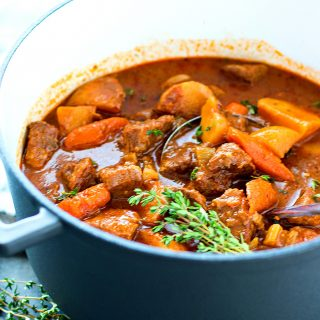 Oven Braised Beef Stew.