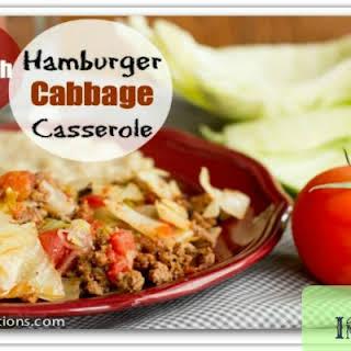 Hamburger Cabbage Casserole.