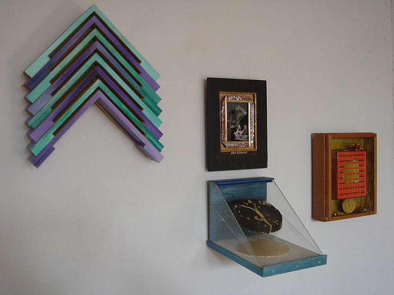 Photo: Left to Right: UPS & DOWNS, IDA BAUME & DOUBLE DISK, GOLD BOX >information> email: cart2gonow@nyc.rr.com http://www.saatchionline.com/carlograssini