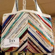 """Photo: #111-W, Fran Walthall, """"Selvedge Bag"""""""