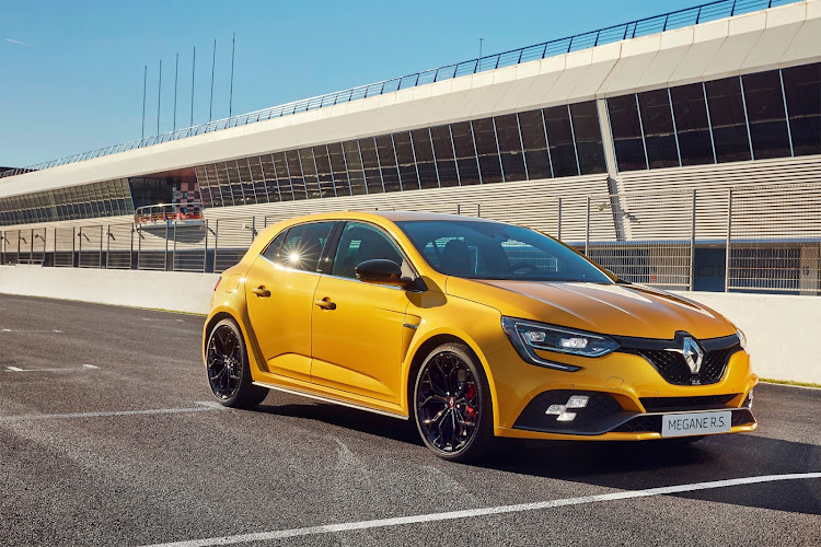 Wider stance and 'chequered flag' fog lights identify the RS as top gun of the Megane range. Picture: SUPPLIED