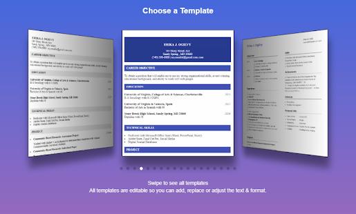 resume builder pro 3 min free cv maker templates screenshot thumbnail