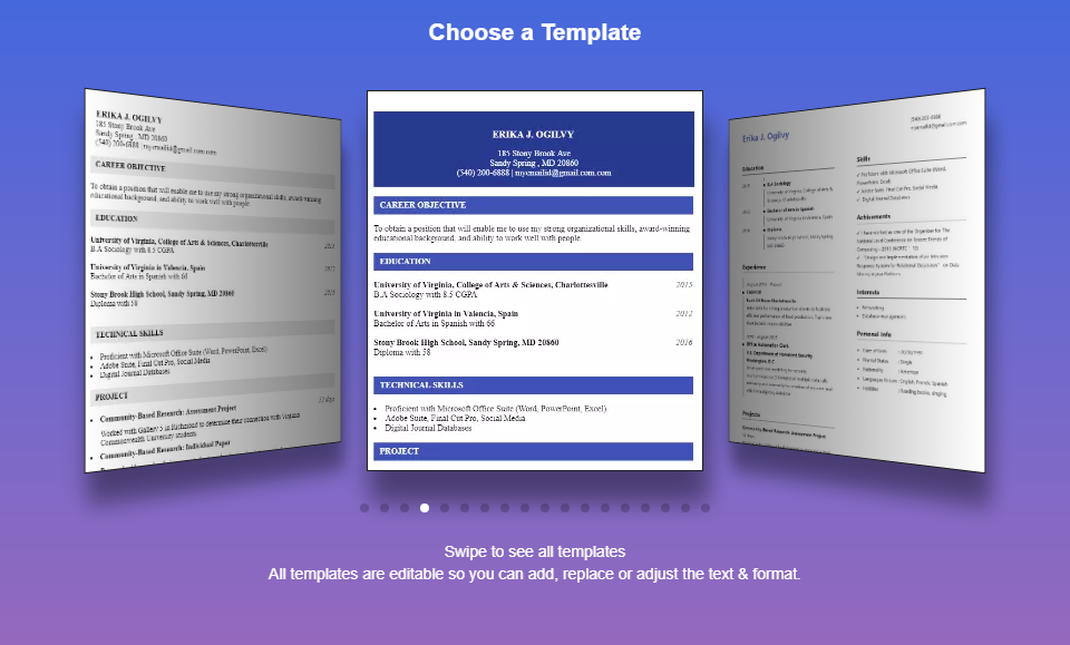 resume builder pro in 10 min free templates maker screenshot