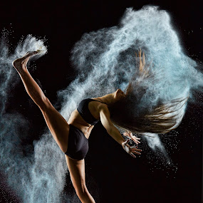Paige by William Kendzierski - People Portraits of Women ( high speed photography, modeling, acrobat, powder, dance, dancer )