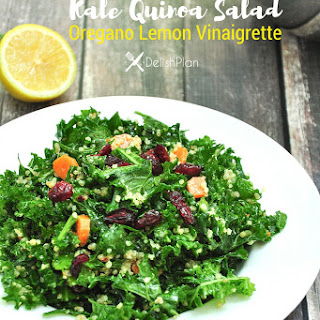 Kale Quinoa Salad with Oregano Lemon Vinaigrette