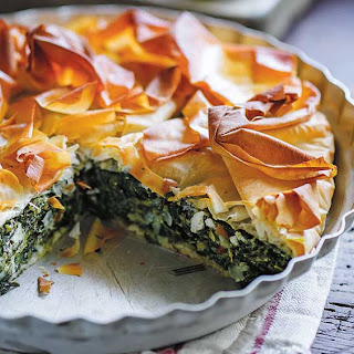 The Dinner Ladies spinach fetta and ricotta pie.