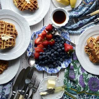 French Brioche Coconut Milk Waffle Toast Recipe
