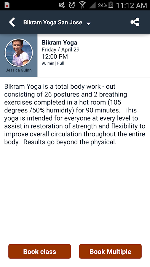 Bikram Yoga San Jose- screenshot