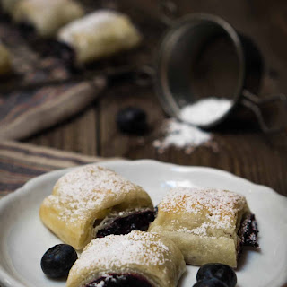 Blueberry Puff Pastry Rolls.
