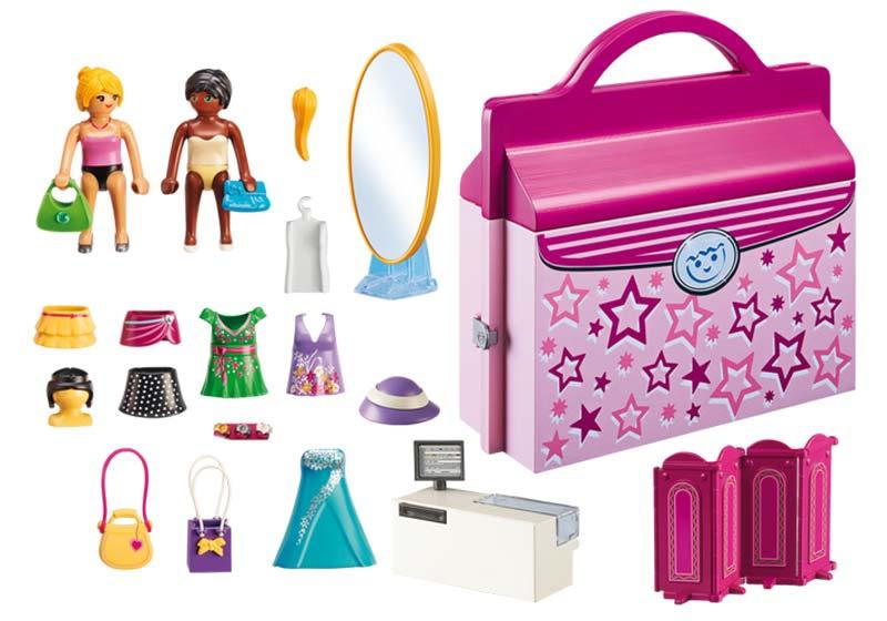 Contenido real de Playmobil® 6862 Tienda de Moda Maletín
